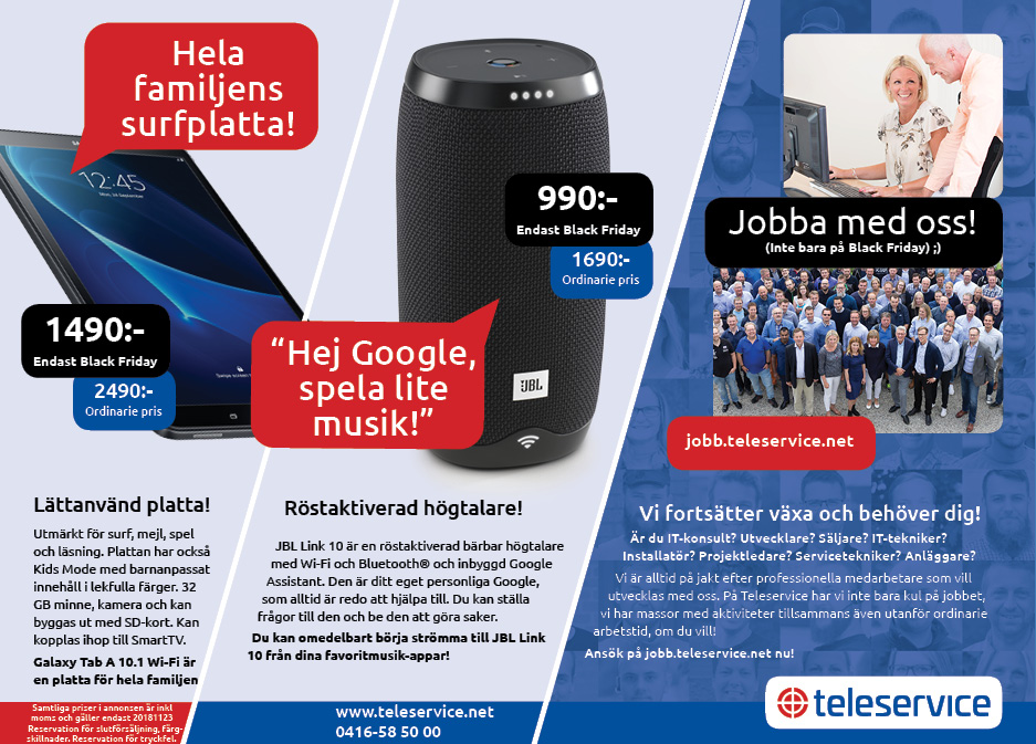 Black Friday på Teleservice!
