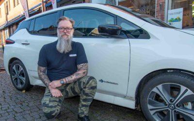 Teleservice testar elbil – tänker på framtiden