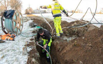 Går det att gräva fiber när det är snö?