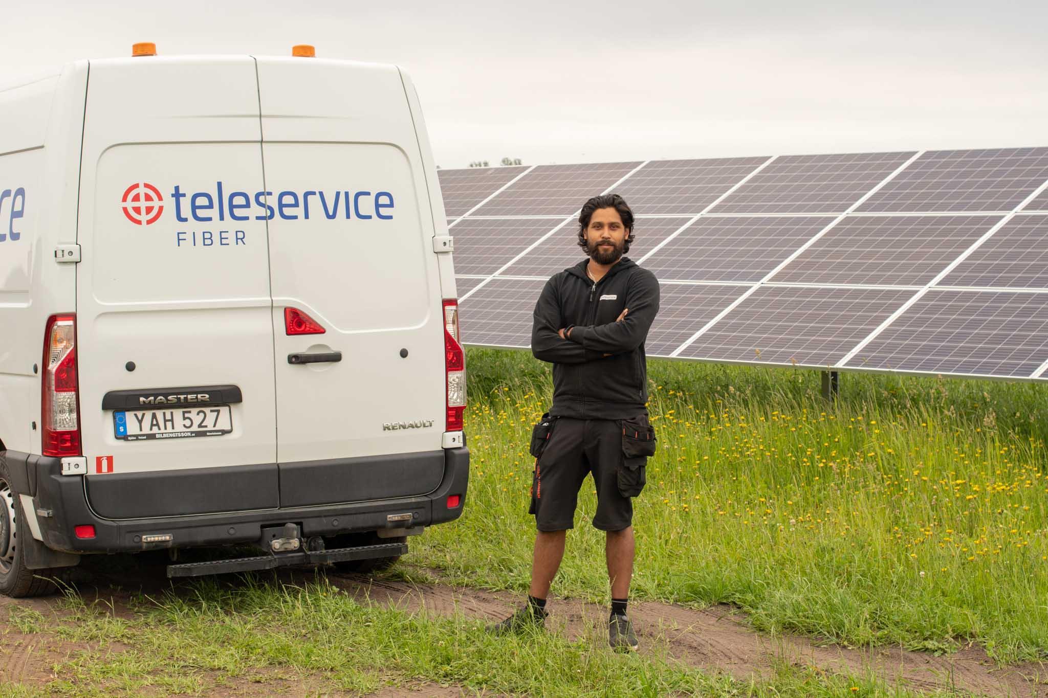 Fiber till Sveriges största solcellspark!