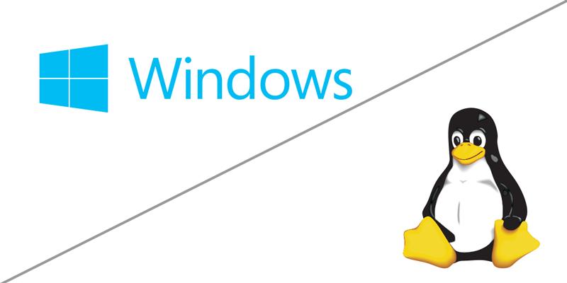 Operativsystem, windows, Linux